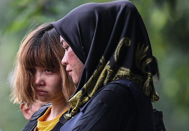 Đoàn Thị Hương bị bắt chỉ 2 ngày sau khi công dân Triều Tiên bị sát hại tại Kuala Lumpur hôm 13/2/2017. (Ảnh: AFP)