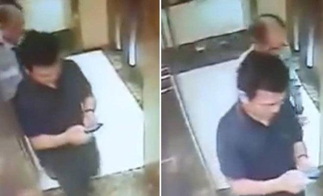 Hình ảnh người đàn ông có hành vi dâm ô trẻ em trong thang máy. Ảnh cắt từ clip