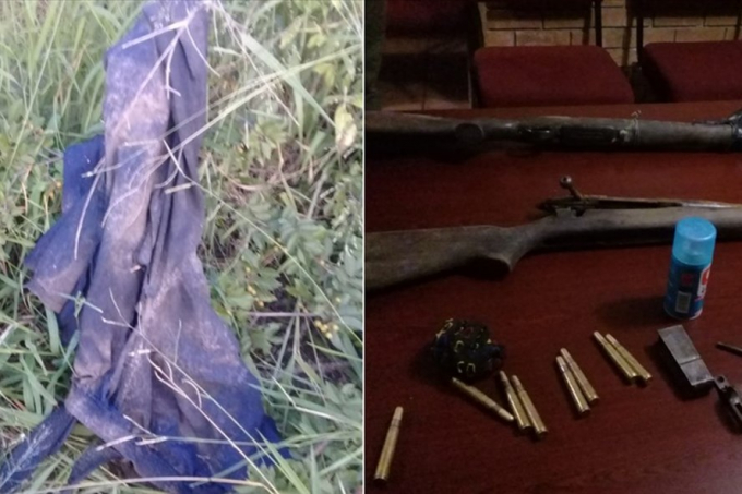 Những gì còn sót lại sau vụ tấn công của voi và sư tử. Ảnh: Twitter Cảnh sát Nam Phi