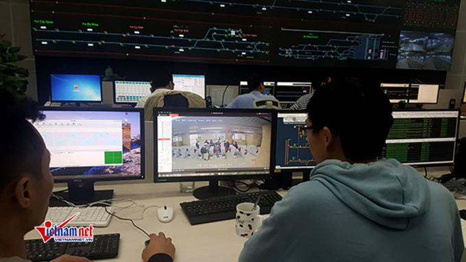Toàn bộ hệ thống nhà ga đều được Trung tâm điều hành cập nhật, quan sát qua hệ thống camera giám sát