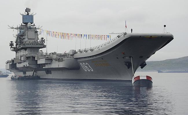 Tàu sân bay Đô đốc Kuznetsov. Ảnh: Sputnik