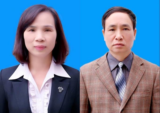 Bà Triệu Thị Chính (trái) và ôngPhạm Văn Khuông vừa bị khởi tố vì liên quan đến vụ sửa điểm thi gây chấn động ở Hà Giang. Ảnh:Sở GDĐT Hà Giang.