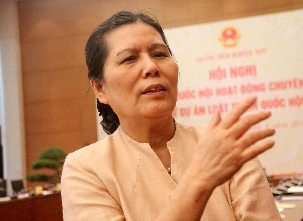 Chủ tịch Hội Bảo vệ quyền trẻ em Việt Nam Nguyễn Thị Thanh Hòa. Ảnh: HG