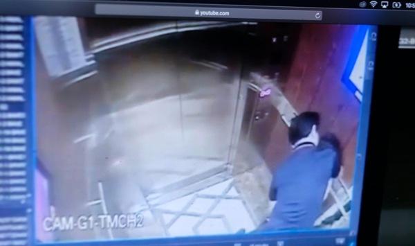 Vụ ép hôn, sàm sỡ bé gái trong thang máy khiến dư luận dậy sóng. Ảnh cắt từ clip. Ảnh: HG