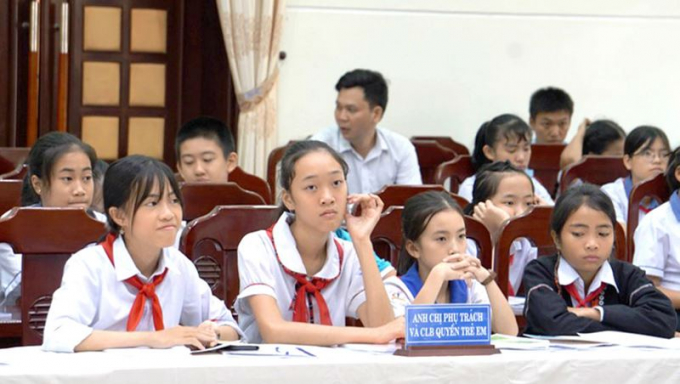 Các em học sinh đến từ 9 huyện của tỉnh Quảng Trị tham dự sự kiện