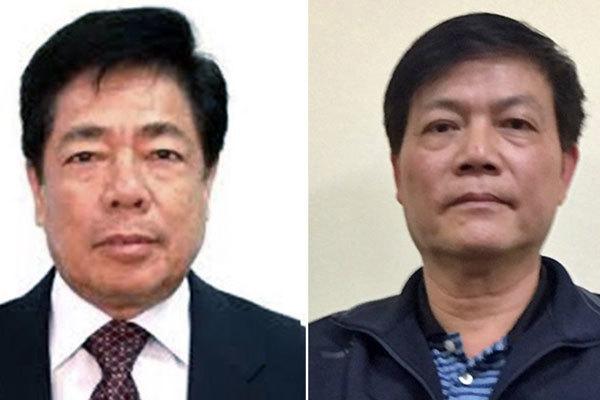 Ông Trương Văn Tuyến (trái) và Nguyễn Ngọc Sự