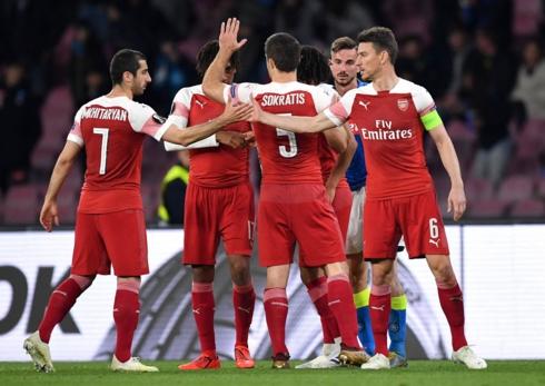 Arsenal có chiến thắng nhẹ nhàng hơn dự kiến trước Napoli. (Ảnh: Getty).