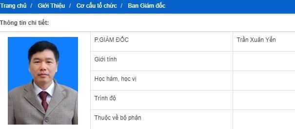 Ông Trần Xuân Yến vẫn được ghi là phó giám đốc Sở GD&ĐT Sơn La trên trang web của đơn vị này. Ảnh:Cắt màn hình.