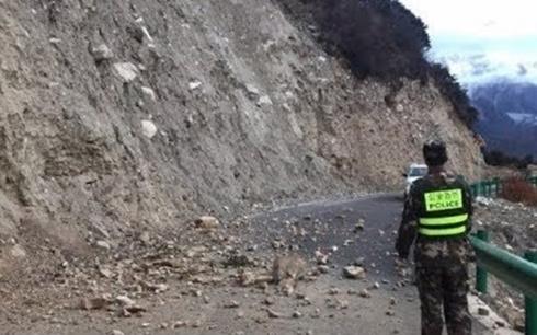 Trận động đất từng xảy ra năm 2017 tạiNyingchi. Ảnh: KT