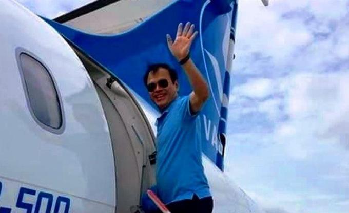 Hình ảnh đồn thổi trên mạng cho rằng nguyên Viện trưởng VKS TP Đà Nẵng Nguyễn Hữu Linhđi du lịch với gia đình trong thời gian cơ quan chức năng đang điều tra vụ án