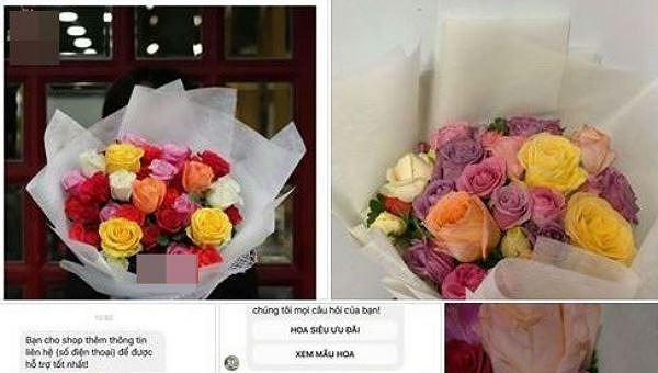 Khách hàng lên mạng xã hội phản ánh shop hoa của Shark Khoa bán hoa héo cho khách