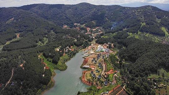 Một số công trình xây dựng xâm lấn khu vực bảo vệ I của hồ Tuyền Lâm