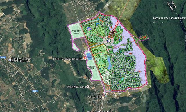Khu du lịch văn hóa và nghỉ dưỡng Lạc Thủy. Vị trí: Xã Phú Lão, huyện Lạc Thủy, tỉnh Hòa Bình. Diện tích: khoảng 160 ha.