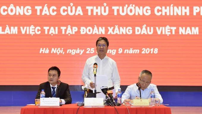 Phó chủ nhiệm VPCP Nguyễn Cao Lục phát biểu tại buổi làm việc - Ảnh Nhật Bắc