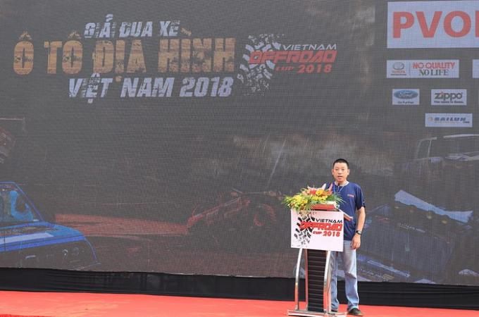 Ông Nguyễn Đức Hoàng - Trưởng ban tổ chức Giải đua xe ô tô địa hình Việt Nam 2018