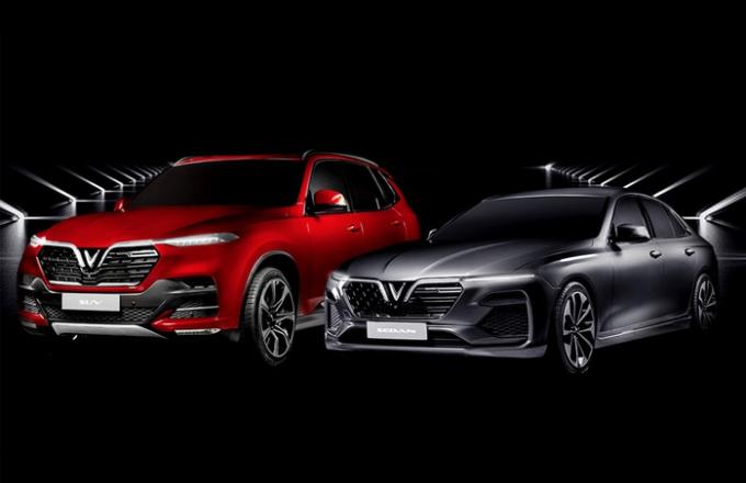 Hai mẫu xe Vinfast sẽ ra mắt tại triển lãm Paris Motor Show 2018. Ảnh: Vinfast.