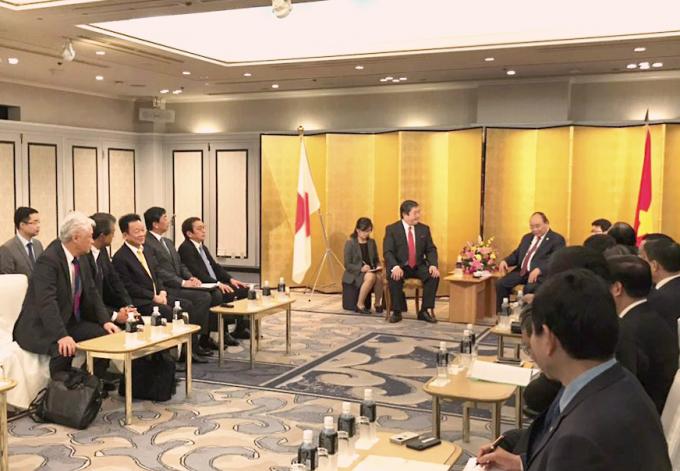 Chủ tịch HĐQT Kiêm TGĐ Tập đoàn T&T Group Đỗ Quang Hiển tham dự cùng Thủ tướng Chính phủ tiếp Tập đoàn Mitsui.