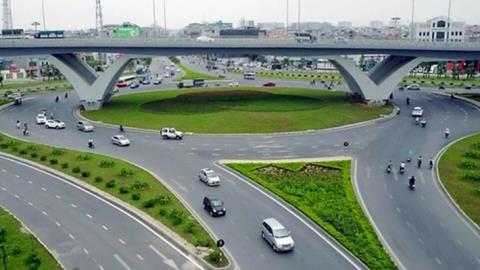 Nút giao thông trung tâm quận Long Biên, Hà Nội - công trình được đầu tư bằng hình thức BT.