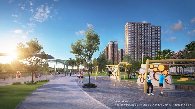 Ảnh: Đại đô thị VinCity Ocean Park sở hữu công viên Gym ngoài trời quy mô tầm cỡ với hàng trăm máy tập.