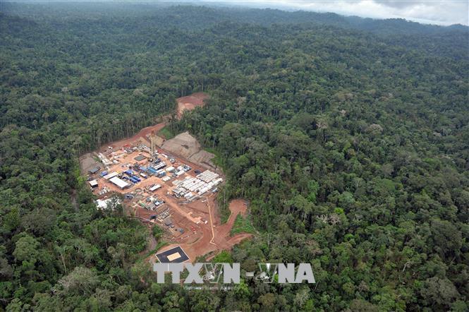 Một khoảng rừng Amazon bị phá hủy để xây dựng cơ sở khai thác khí đốt ở Cuzco, Peru. Ảnh: AFP/TTXVN.