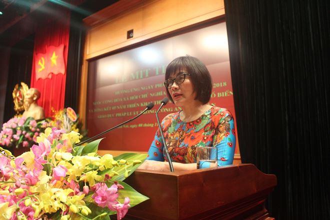 Thứ trưởng Đặng Hoàng Oanh đánh giá cao sự quan tâm, lãnh đạo, chỉ đạo sát sao và kịp thời của Đảng ủy Công an Trung ương và Lãnh đạo Bộ Công an đối với việc triển khai Ngày Pháp luật.