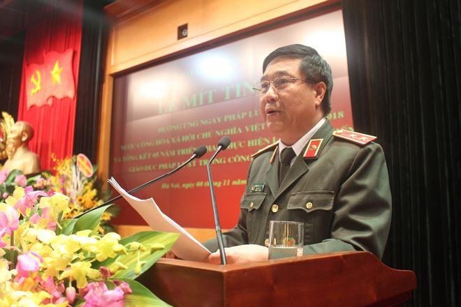 Trung tướng Nguyễn Ngọc Anh, Cục trưởng Cục Pháp chế và cải cách hành chính, tư pháp cho biết Ngày Pháp luật được lực lượng Công an triển khai rất nghiêm túc, hiệu quả.