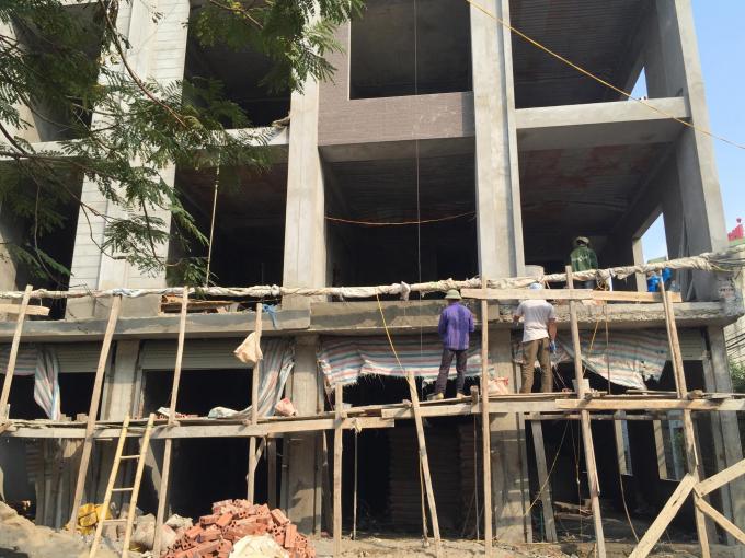 Dự án khu nhà ở liền kề Man Bồi - Phú Lãm - Hà Đông. Ảnh Khánh An - Vnmedia.