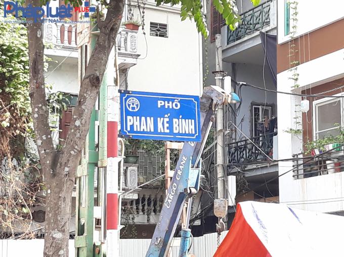 Tuyến đường Phan Kế Bính kéo dài, đoạn từ Linh Lang tới đường Bưởi là tuyến đường mới được cống hóa.