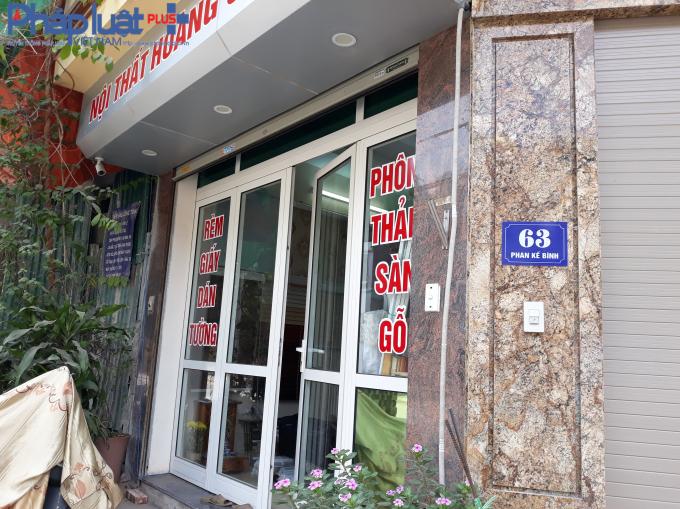 Cửa hàng bên cạnh số 63 Phan Kế Bính chưa có số nhà. Đây quả thực là một