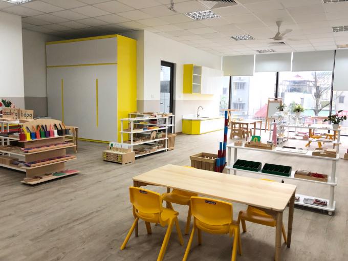 Trường mầm non Sakura Montessori nằm tại tầng 2 của TTTM.