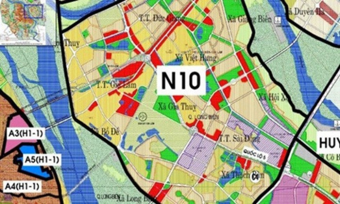 Khu đô thị rộng 13,42 ha ở Long Biên có quy mô dân số 1.300 người.Ảnh: NDH.