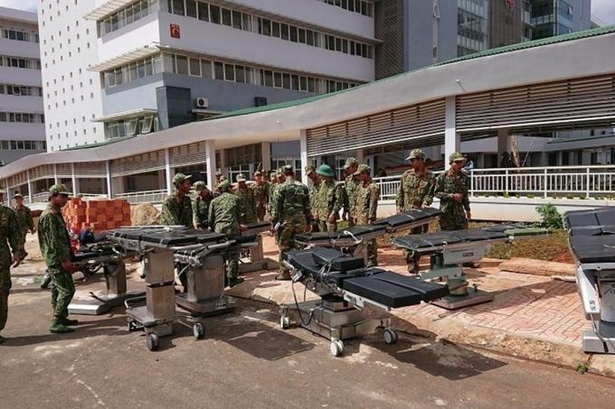 Việc di dời trang thiết bị của Bệnh viện Đa khoa Vùng sang trụ sở mới sẽ mất nhiều thời gian.
