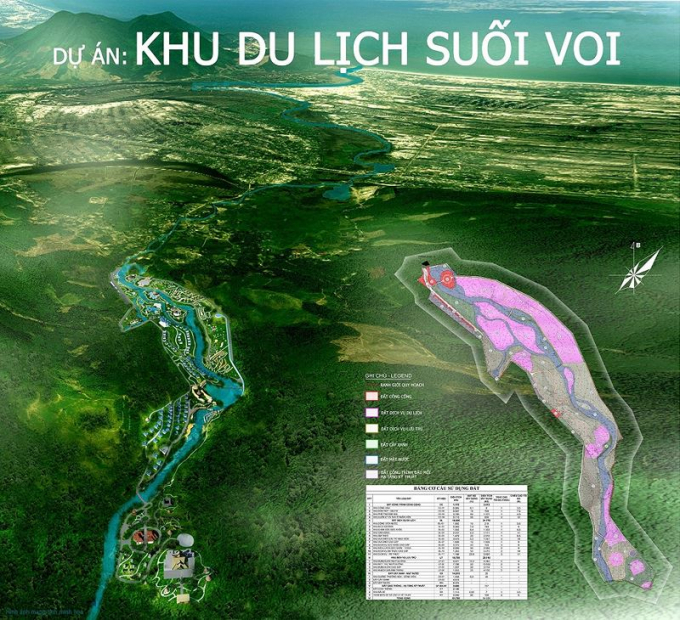 Phối cảnh dự án khu du lịch Suối Voi.