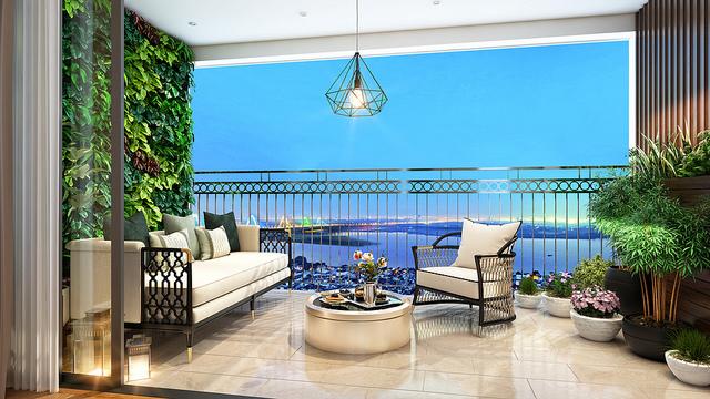 Không gian hiện đại, hòa nhịp cùng thiên nhiên tại căn hộ D'. El Dorado.