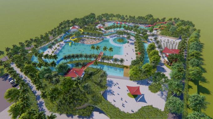 Toàn cảnh dự án SunBay Cam Ranh Resort & Spa. Có tổng vốn đầu tư khoảng 1400 tỉ đồng, dự án dự kiến chính thức hoạt động từ cuối năm 2019.