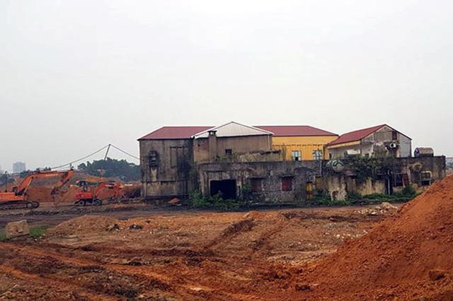 Khu đất nhà máy thép Gia Sàng đang được san lấp để nhường chỗ cho khu đô thị mới nghìn tỷ.