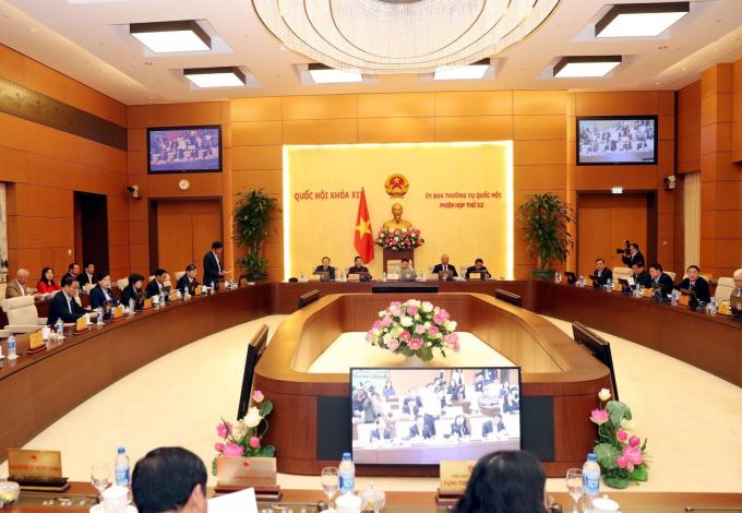 Toàn cảnhPhiên họp thứ 32 của Ủy ban Thường vụ Quốc hội. Ảnh: Trọng Đức/TTXVN.