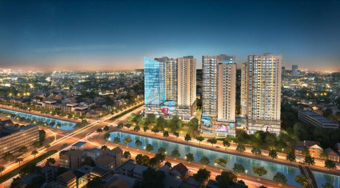 Hinode City là sản phẩm của những công ty thiết kế hàng đầu thế giới.