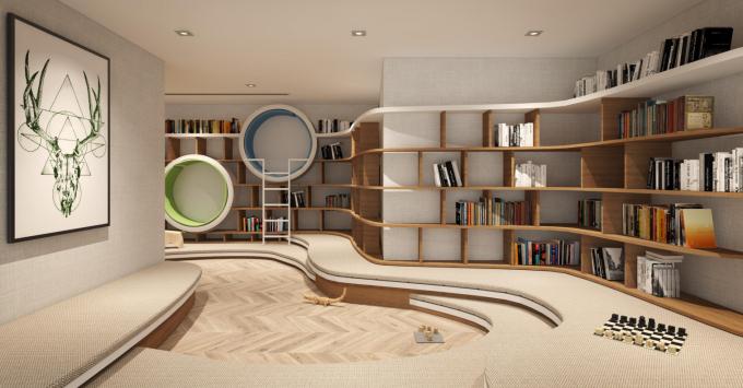 Phương án thiết kế thư viện cộng đồng Ong&Ong đề xuất cho Asahi Tower.