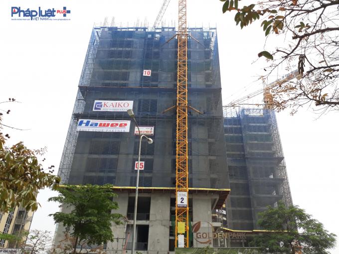 Hiện tại, dự án đang xây thân đến tầng 13.