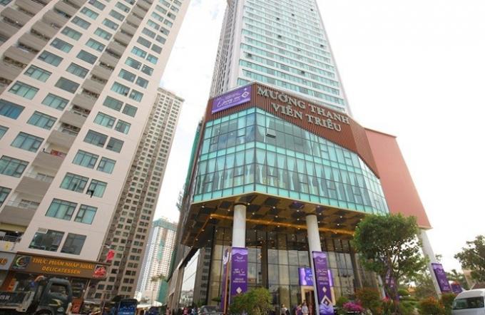 Khách sạn Mường Thanh Luxury Viễn Triều, một trong 22 khách sạn bị cho là không đủ điều kiện lưu trú.