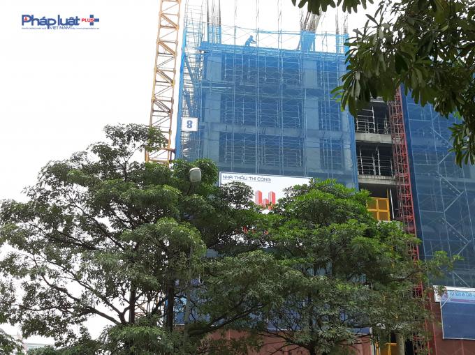 Hiện tại dự án đang xây đến tầng 9.