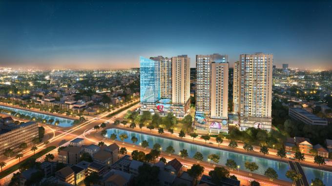 Hinode City được coi là lựa chọn tối ưu cho khách hàng tìm căn hộ cao cấp gần phố cổ.