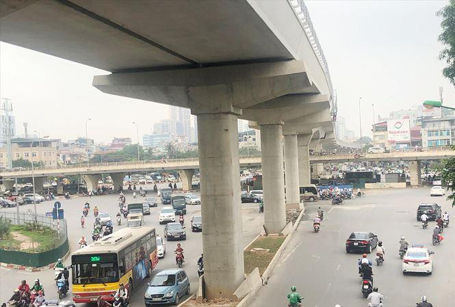 Dự án metro Nhổn-ga Hà Nội đã hợp long đường trên cao và đưa vào sử dụng năm 2020 Ảnh: T.Đảng.