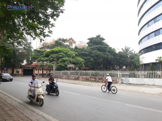 Dự án Bệnh viện Quốc tế Hoa Kỳđược xây dựng trênđất củahai phường Nghĩa Tân và Dịch Vọng.