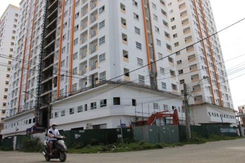 Dự án Nhà ở xã hội khu dân cư Bắc Vĩnh Hải, phường Vĩnh Hòa, TP Nha Trang do công ty Hoàng Quân làm chủ đầu tư. (Ảnh: Thái Thịnh).