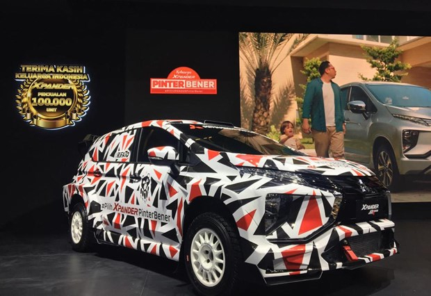 Mẫu xe Mitsubishi Xpander được giới thiệu tại triển lãm. (Nguồn: The Jakarta Post).