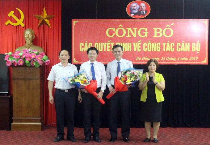 Ban Tổ chức Tỉnh ủy và Thường trực HĐND tỉnh Quảng Bình chúc mừng đồng chí Trần Thắng và đồng chí Trương An Ninh.