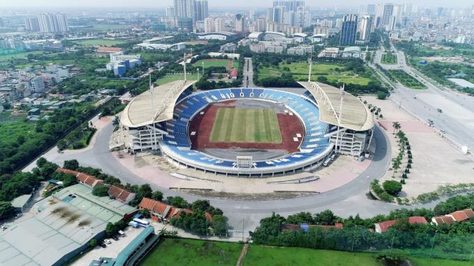 Toàn cảnh Khu Liên hợp Thể thao Quốc gia nhìn từ trên cao. (Nguồn: Pháp luật & Xã hội).