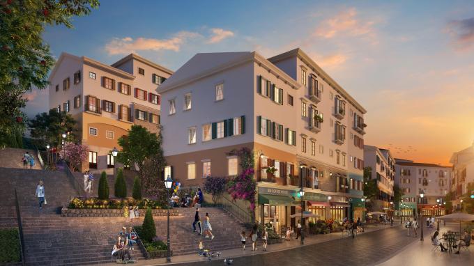 Thiết kế giật cấp đặc trưng của Amalfi được tái hiện hoàn hảo tại Sun Premier Village Primavera.